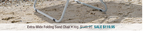 Extra-Wide Folding Sand Chair