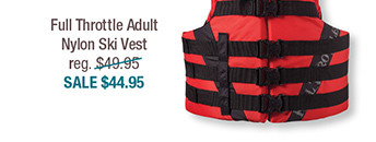 Full Throttle Adult Nylon Ski Vest