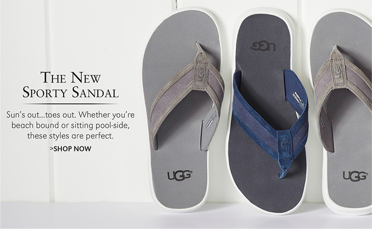 The New Sporty Sandal | Sun's out...toes out. Whether you're beach bound or sitting pool-side, these styles are perfect. | SHOP NOW