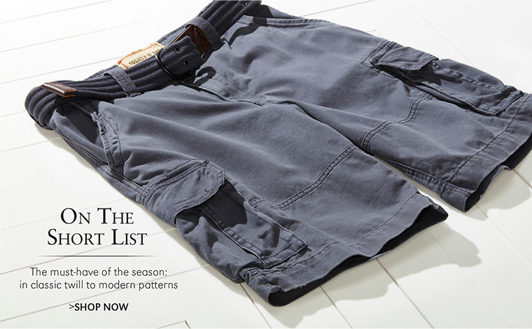 On The Short List | The must-have of the season: in classic twill to modern patterns | SHOP NOW