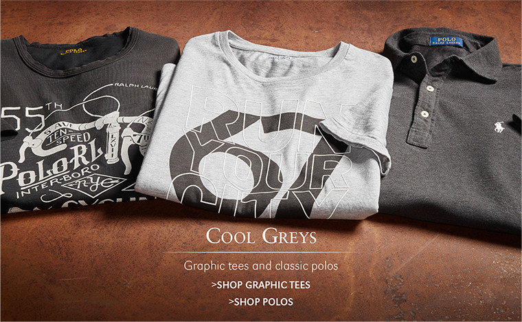 COOL GREYS | Graphic tees and classic polos