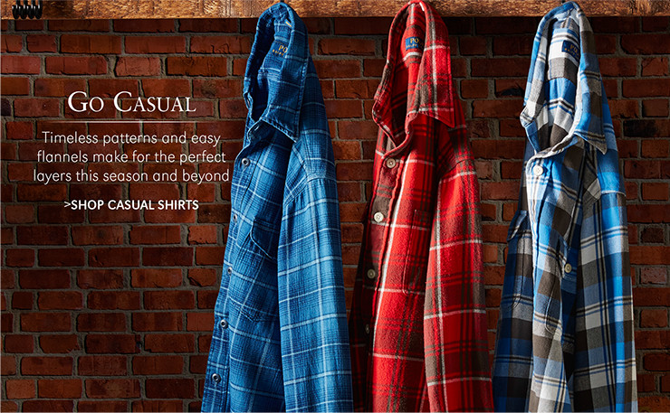 Go Casual | Timeless patterns and easy flannels make for the perfect layers this season and beyond | SHOP CASUAL SHIRTS