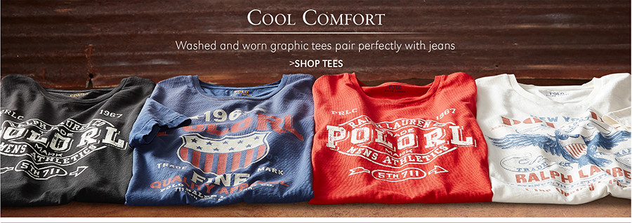 Cool Comfort | Washed and worn graphic tees pair perfectly with jeans | SHOP TEES