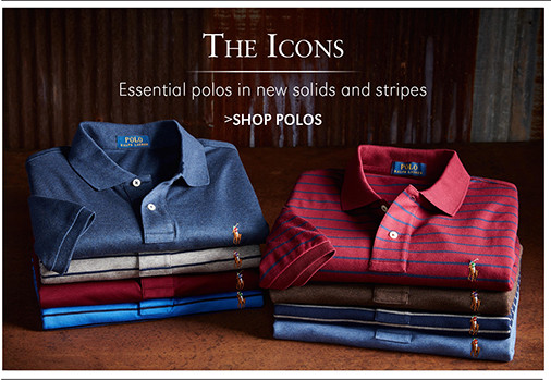 The Icons | Essential polos in new solids and stripes | SHOP POLOS