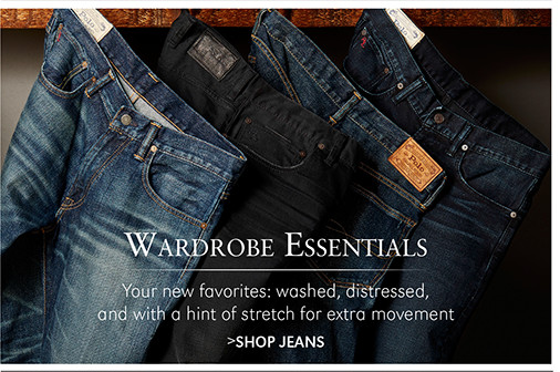 Wardrobe Essentials | Your new favorites: washed, distressed, and with a hint of stretch for extra movement | SHOP JEANS