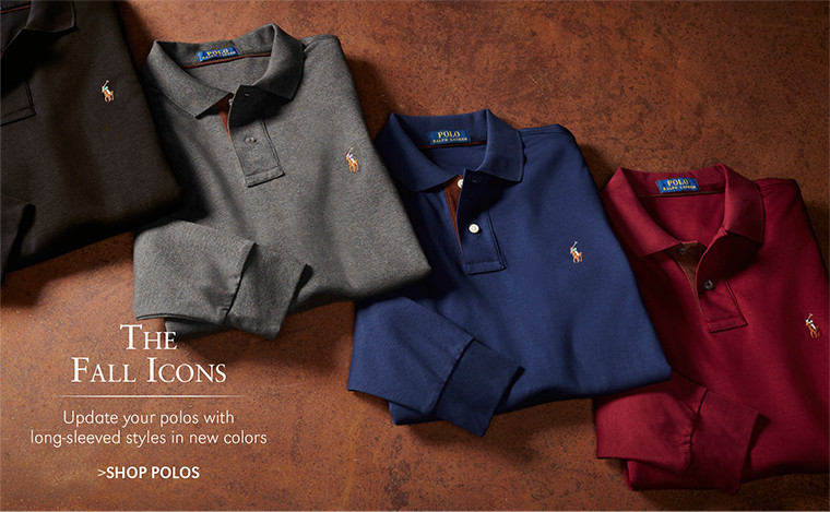 The Fall Icons | Update your polos with long-sleeved styles in new colors | SHOP POLOS