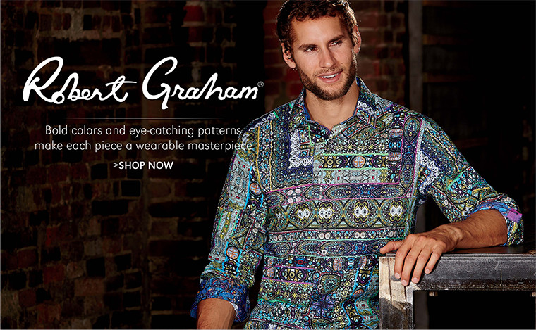 Robert Graham   Bold colors and eye-catching patterns make each piece a wearable masterpiece   SHOP NOW