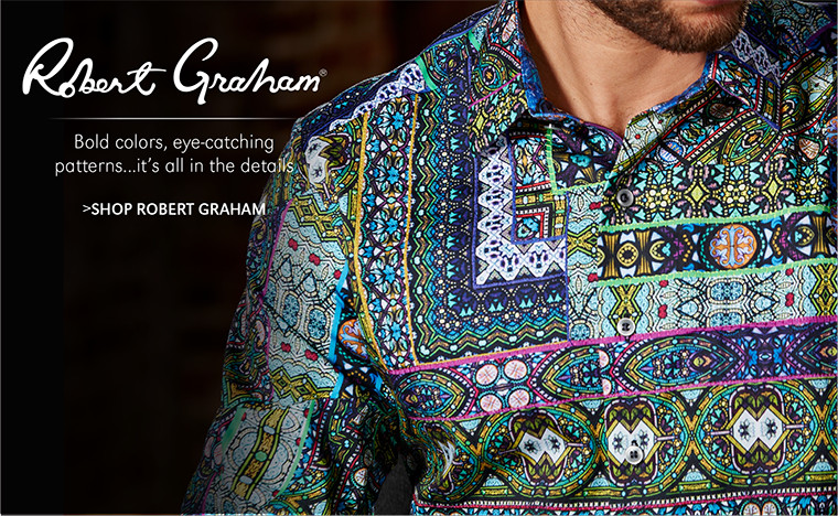 Robert Graham | Bold colors, eye-catching patterns...it's all in the details | SHOP ROBERT GRAHAM