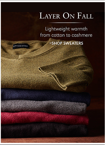Layer On Fall | Lightweight warmth from cotton to cashmere | SHOP SWEATERS
