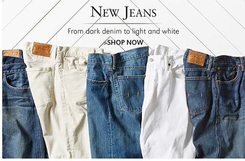 New Jeans | From dark denim to light and white | SHOP NOW