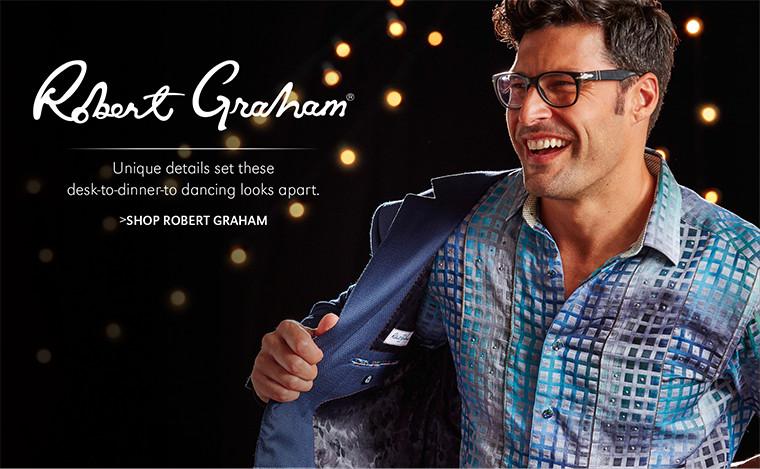 Robert Graham | Unique details set these desk-to-dinner-to dancing looks apart. | SHOP ROBERT GRAHAM