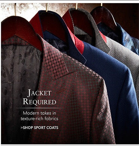 Jacket Required | Modern takes in texture-rich fabrics | SHOP SPORT COATS
