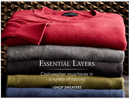 Essential Layers | Cool-weather must-haves in a variety of options | SHOP SWEATERS