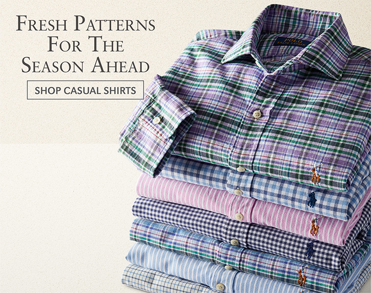 Fresh Patterns For The Season Ahead | SHOP CASUAL SHIRTS