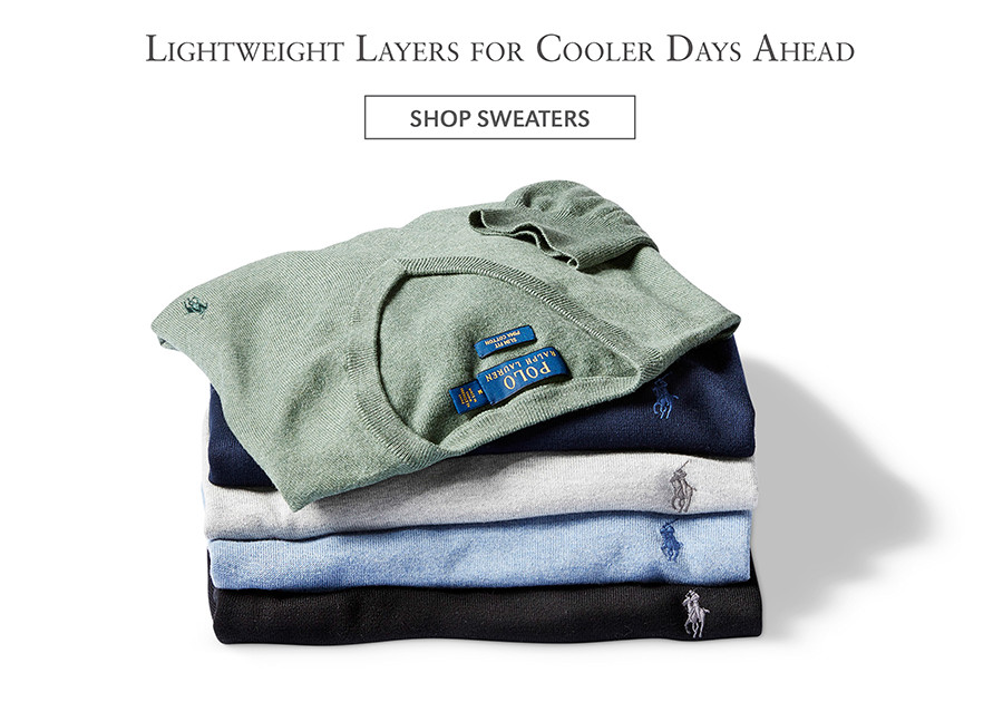 Lightweight Layers for Cooler Days Ahead   SHOP SWEATERS