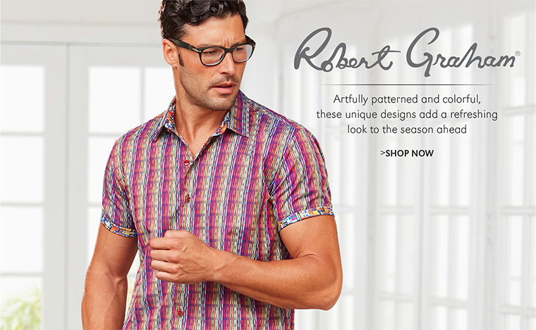 Robert Graham | Artfully patterned and colorful, these unique designs add a refreshing look to the season ahead | SHOP NOW