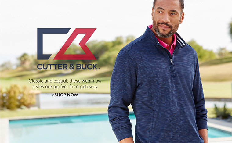 Cutter & Buck | Classic and casual, these wear-now styles are perfect for a getaway | SHOP NOW