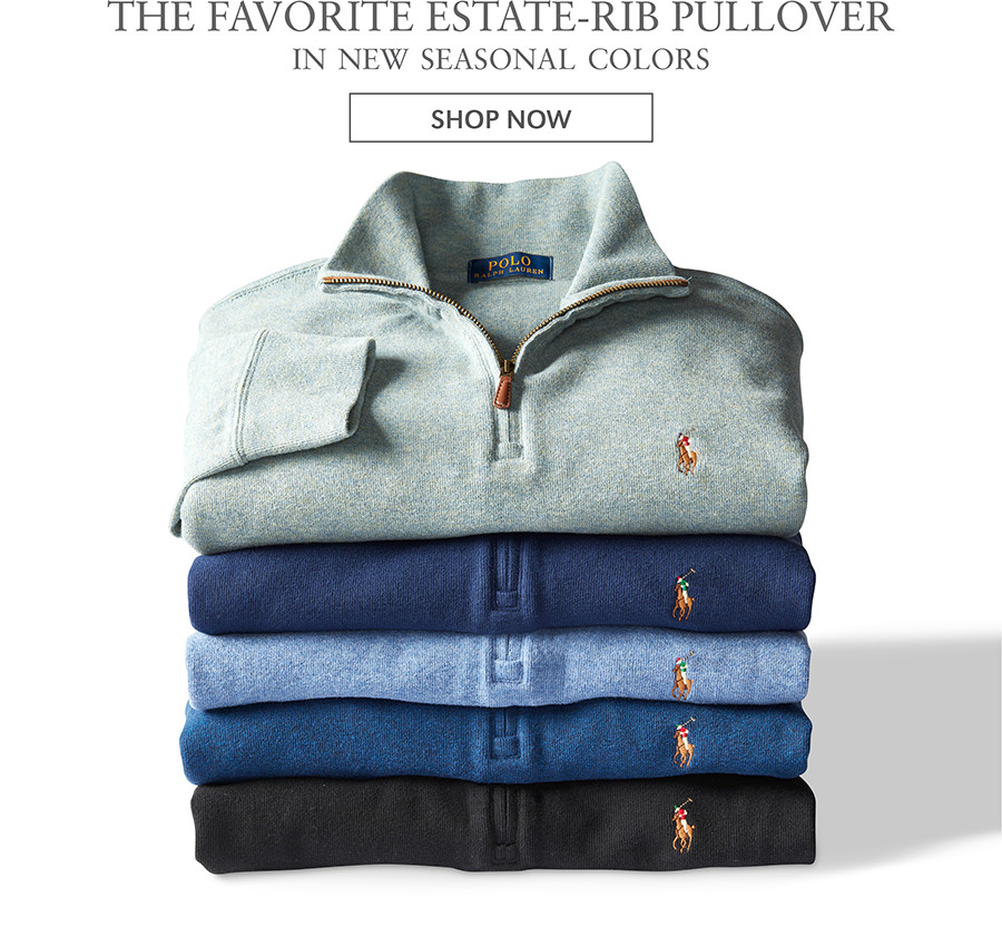 THE FAVORITE ESTATE-RIB PULLOVER IN NEW SEASONAL COLORS | SHOP NOW