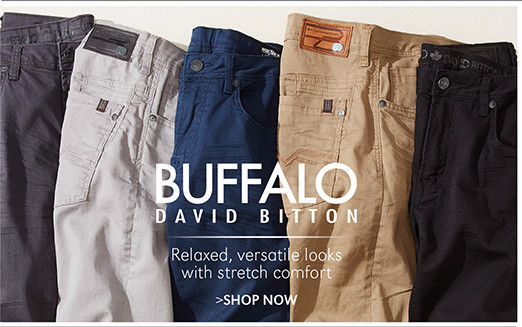 Buffalo David Bitton | Relaxed, versatile looks with stretch comfort | SHOP NOW