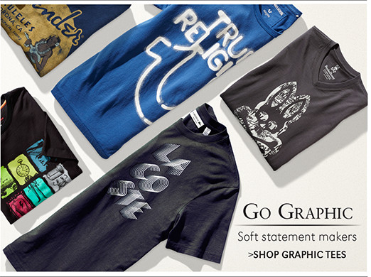 Go Graphic | Soft statement makers | SHOP GRAPHIC TEES