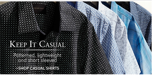 Keep It Casual | Patterned, lightweight and short sleeved | SHOP CASUAL SHIRTS