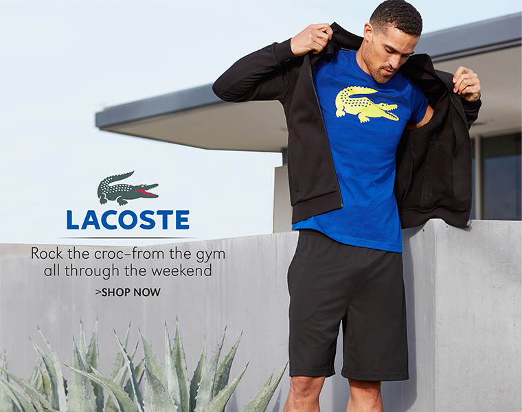 Lacoste | Rock the croc-from the gym all through the weekend | SHOP NOW