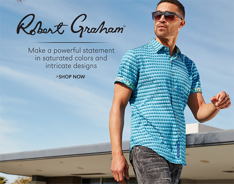 Robert Graham | Make a powerful statement in saturated colors and intricate designs | SHOP NOW