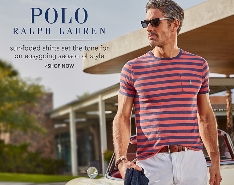 Polo Ralph Lauren | sun-faded shirts set the tone for an easygoing season of style | SHOP NOW