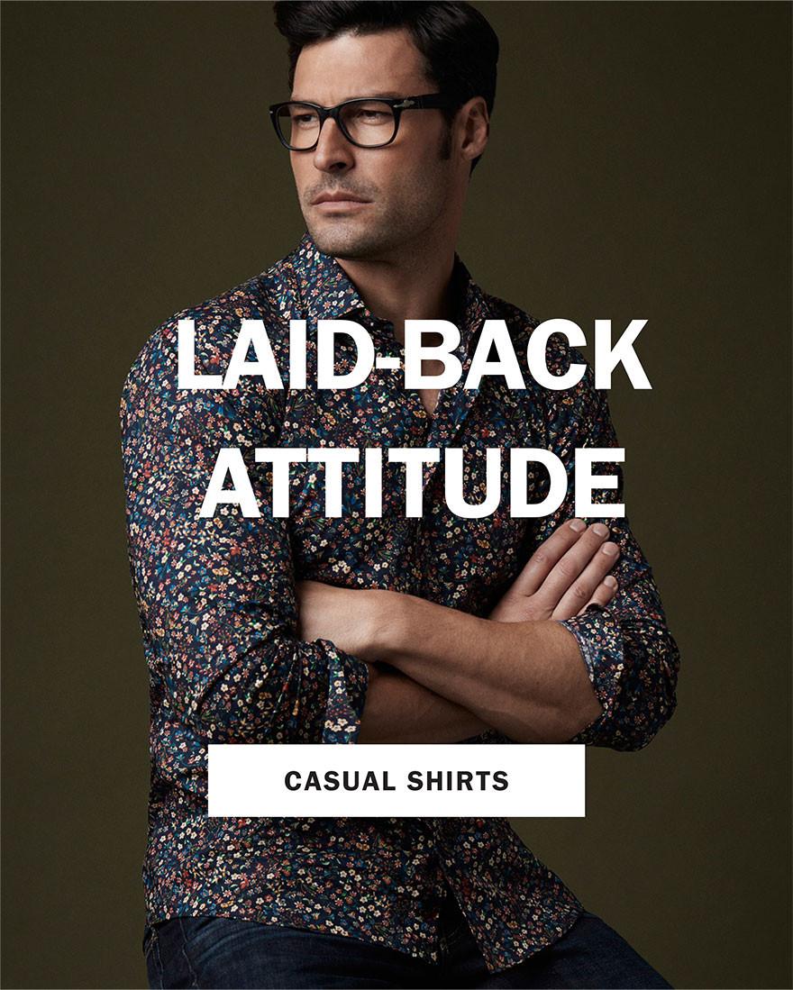 LAID-BACK ATTITUDE   CASUAL SHIRTS