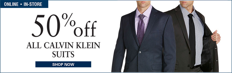 50% OFF ALL CALVIN KLEIN SUITS
