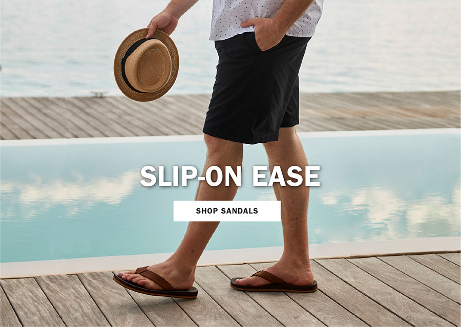SLIP ON EASE | SHOP SANDALS