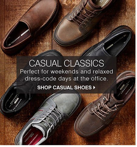 Casual Classics: Perfect for weekends and relaxed dress-code days at the office. Shop Casual Shoes