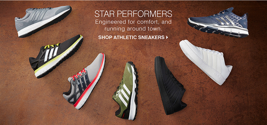 Star Performers: Engineered for comfort, and running around town. Shop Athletic Sneakers