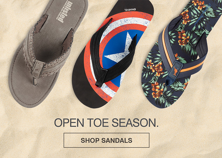 OPEN TOE SEASON. SHOP SANDALS