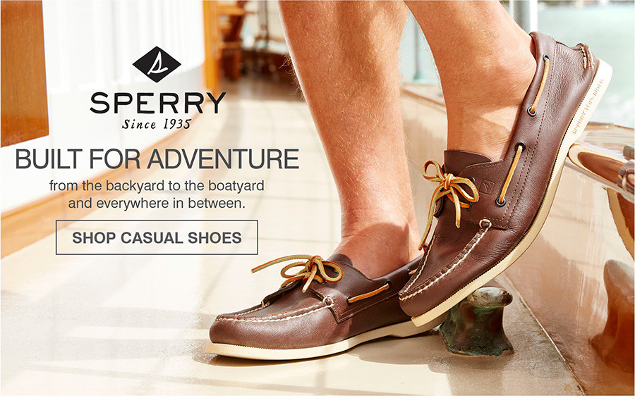 BUILT FOR ADVENTURE FROM TEH BACKYARD TO THE BOATYARD AND EVERYWHERE IN BETWEEN. SHOP CASUAL SHOES