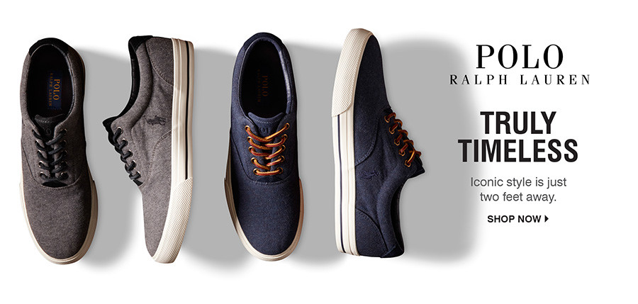 Truly Timeless: Iconic style is just two feet away. Shop Polo Ralph Lauren