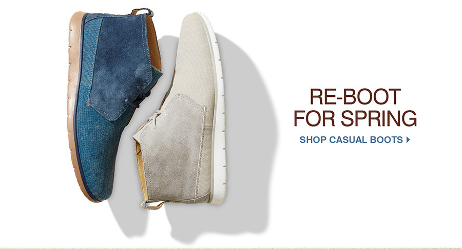 Re-boot for Spring. Shop Casual Boots