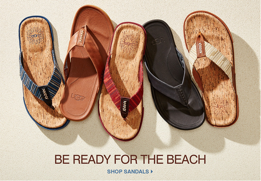 Be ready for the beach. Shop Sandals