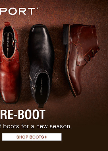 Time to re-boot. Refresh your collection of boots for a new season. Shop Boots.