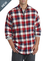 Harbor Bay® Large Buffalo Check Flannel Shirt
