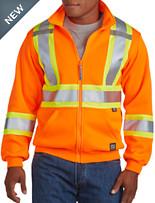 Work King Hi-Visibility Zip-Front Fleece Hoodie