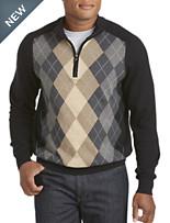 Cutter & Buck® Shane Argyle Half-Zip Sweater