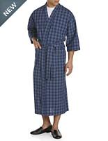 Majestic® Plaid Seersucker Kimono Robe