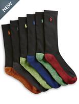 Polo Ralph Lauren® 6-pk Assorted Classic Sport Crew Socks