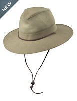 DPC by Dorfman Pacific Brushed Twill Safari Hat