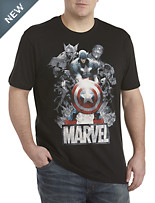Marvel Comics Captain and Co. Screen Tee