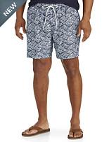 Nautica® Leaf-Print Swim Trunks