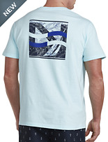 Nautica® Leaves and J-Class Graphic V-Neck Tee