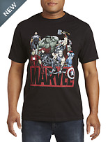 Marvel Comics Avengers Group Graphic Tee