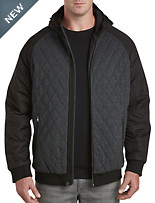 True Nation® Quilted Bomber Jacket